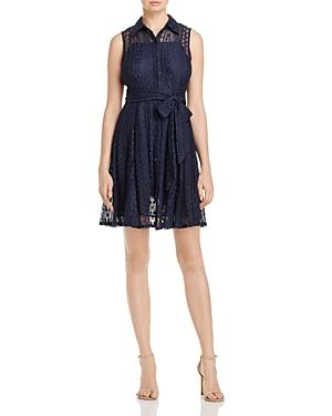 Aqua Sleeveless Lace Shirt Dress - 100% Exclusive