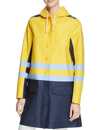 Stutterheim - Hooded Color-Block Raincoat