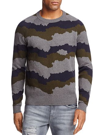 J Brand - Quaezar Camo Stripe Sweater - 100% Exclusive