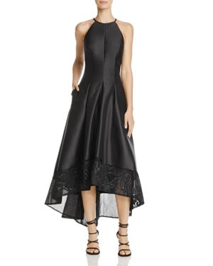 Carmen Marc Valvo Infusion Embroidered High/Low Dress