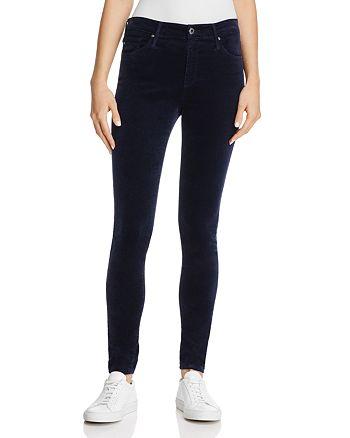 AG - Farrah Velvet Skinny Jeans in After Dark - 100% Exclusive