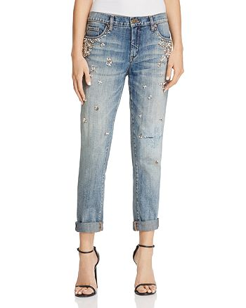 BLANKNYC - Crystal & Faux-Pearl Embellished Jeans in Soul Mates - 100% Exclusive