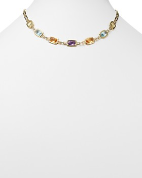 "Bloomingdale's - Multi Gemstone Necklace in 14K Yellow and White Gold, 18"" - 100% Exclusive"