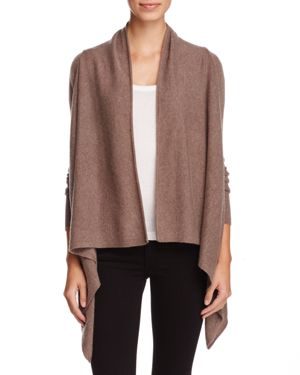 C by Bloomingdale's Cashmere Open Asymmetric Cardigan - 100% Exclusive