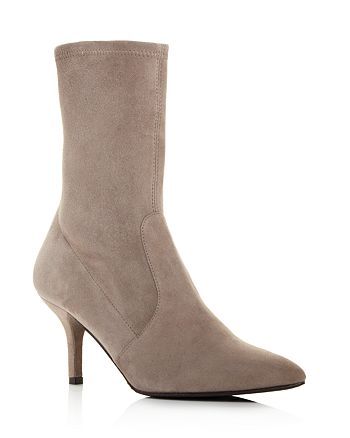 f8eb42f5c50 Stuart Weitzman Cling Suede Stretch Sock Booties | Bloomingdale's