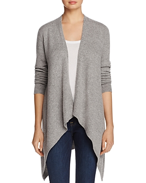 C by Bloomingdales Cashmere Drape-Front Open Cardigan - 100% Exclusive