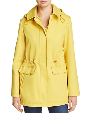 kate spade new york Scalloped Pocket Raincoat
