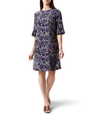 Hobbs London Tilda Fluted-Sleeve Dress