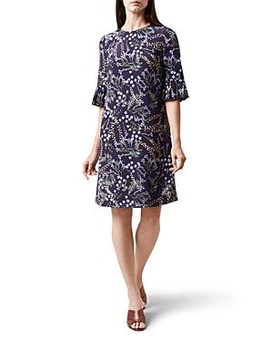 Hobbs London Tilda Fluted-Sleeve Dress