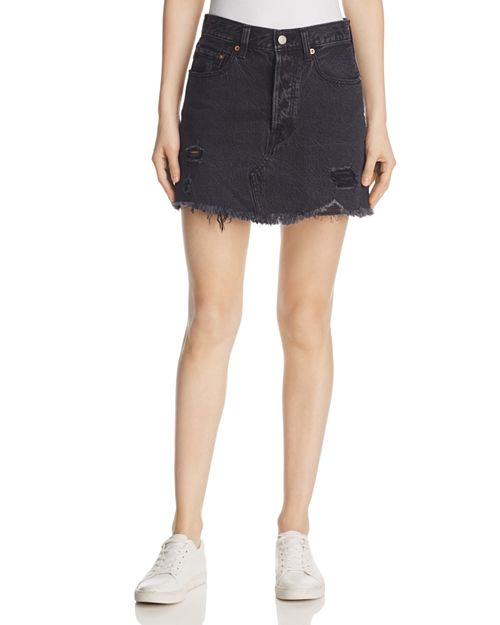 Levi's - Deconstructed Denim Mini Skirt in Gimme Danger