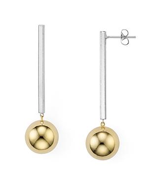 Argento Vivo Two-Tone Linear Earrings