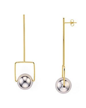 Argento Vivo Sphere Drop Earrings