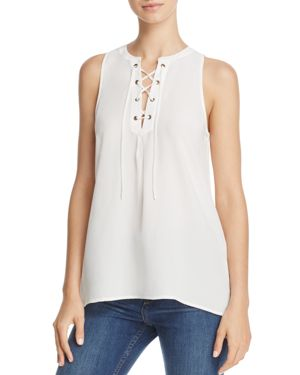 Joie Deasia Silk Lace-Up Top