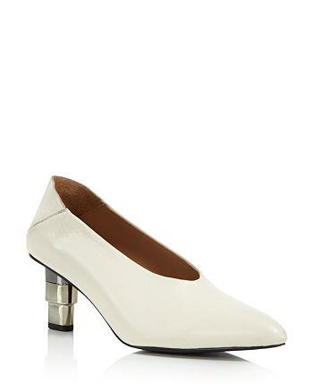 JAGGAR - Women's Pointed Toe Metallic Heel Pumps