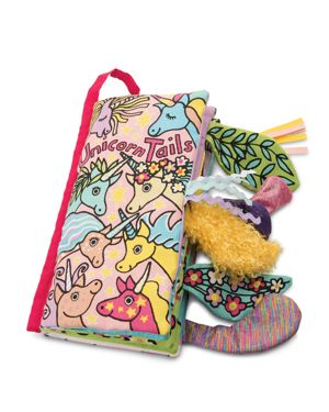 Jellycat Unicorn Tails Book - Ages 0+