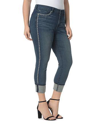 NYDJ Plus - Alina Wide Cuff Ankle Jeans in Oak Hill