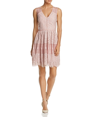 Adelyn Rae Estelle Lace Fit-and-Flare Dress