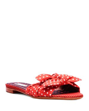 Tabitha Simmons Cleo Polka Dot Slide Sandals