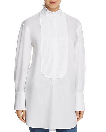 Burberry - Finch Ruffle Neck Tuxedo Shirt - 100% Exclusive