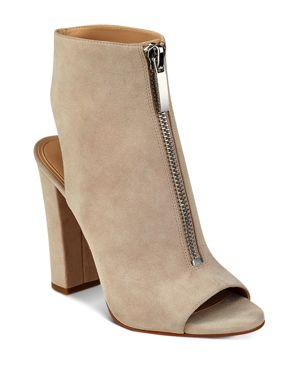 Kendall and Kylie Elaine Zip Front Block Heel Sandals