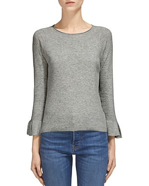Whistles Frill Flare-Sleeve Knit Top