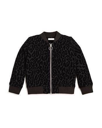 Design History - Girls' Leopard Burnout Bomber Jacket - Big Kid