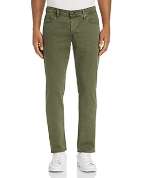 AG - Graduate Tapered Fit Twill Pants in Sulfur Climbing Ivy