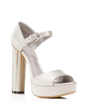 Salvatore Ferragamo Women's Satin Floral High-Heel Platform Sandals 3031855