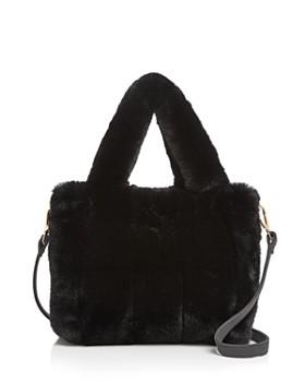 AQUA - Faux-Fur Tote - 100% Exclusive