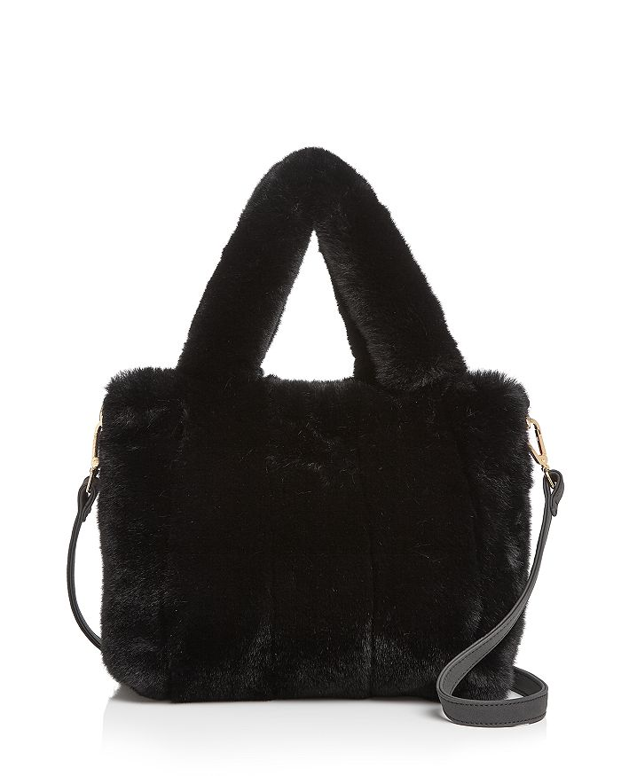 AQUA - Faux-Fur Tote - 100% Exclusive