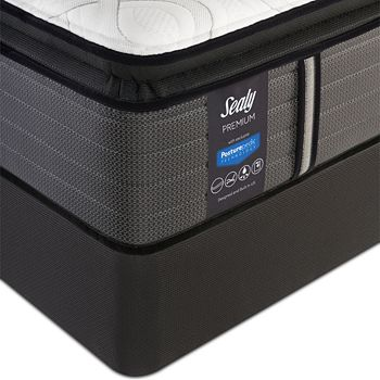 Sealy Posturepedic - Satisfied Plush Euro Pillow Top Twin Mattress & Box Spring Set