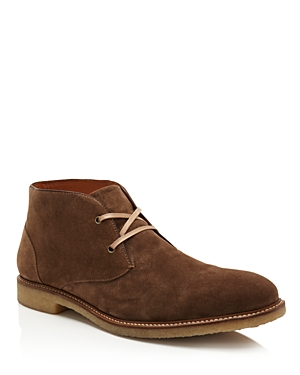 From our Men\\\'s Store, these exclusive chukka boots feature a luxe suede upper with a comfortable crepe sole.