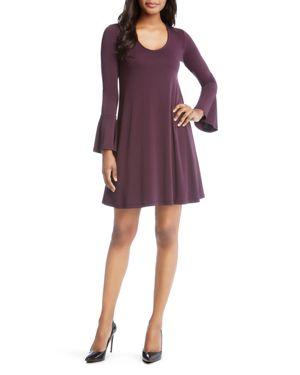 Karen Kane Taylor Bell-Sleeve Dress