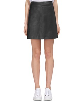Whistles - Leather A-Line Skirt