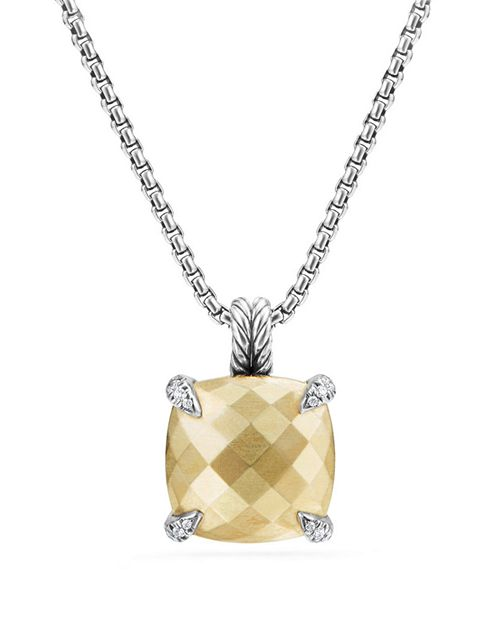 David Yurman - Châtelaine Pendant Necklace with 18K Gold and Diamonds