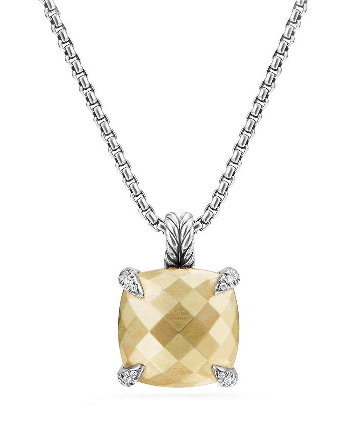 David Yurman - Châtelaine Pendant Necklace with 18K Gold and Diamonds