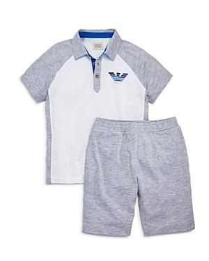 Armani Junior Boys' Polo & Shorts Set - Little Kid, Big Kid