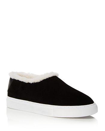 755e5bc4bd5514 Tory Burch - Women s Miller Suede and Shearling Slip-On Sneakers