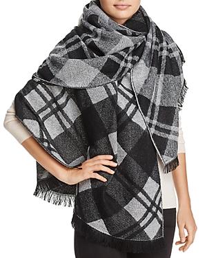 Aqua Bias Plaid Blanket Scarf - 100% Exclusive