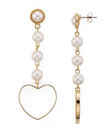 AQUA - Natasha Heart Drop Earrings - 100% Exclusive