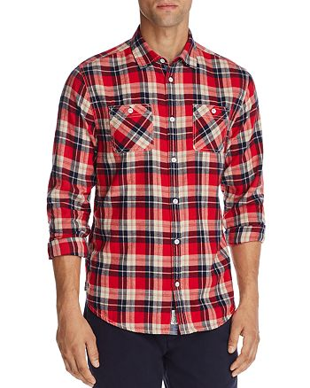 Flag & Anthem - Red Plaid Regular Fit Flannel - 100% Exclusive
