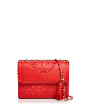 FLEMING QUILTED LEATHER SMALL CONVERTIBLE SHOULDER BAG