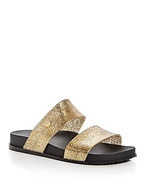Melissa Cosmic Metallic Glitter Two Band Slide Sandals