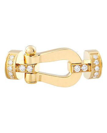 Fred - 18K Yellow Gold Force 10 Diamond Medium Buckle