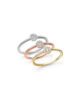 Bloomingdale's - Diamond Cluster Stacking Rings in 14K Gold, .10 ct. t.w. - 100% Exclusive
