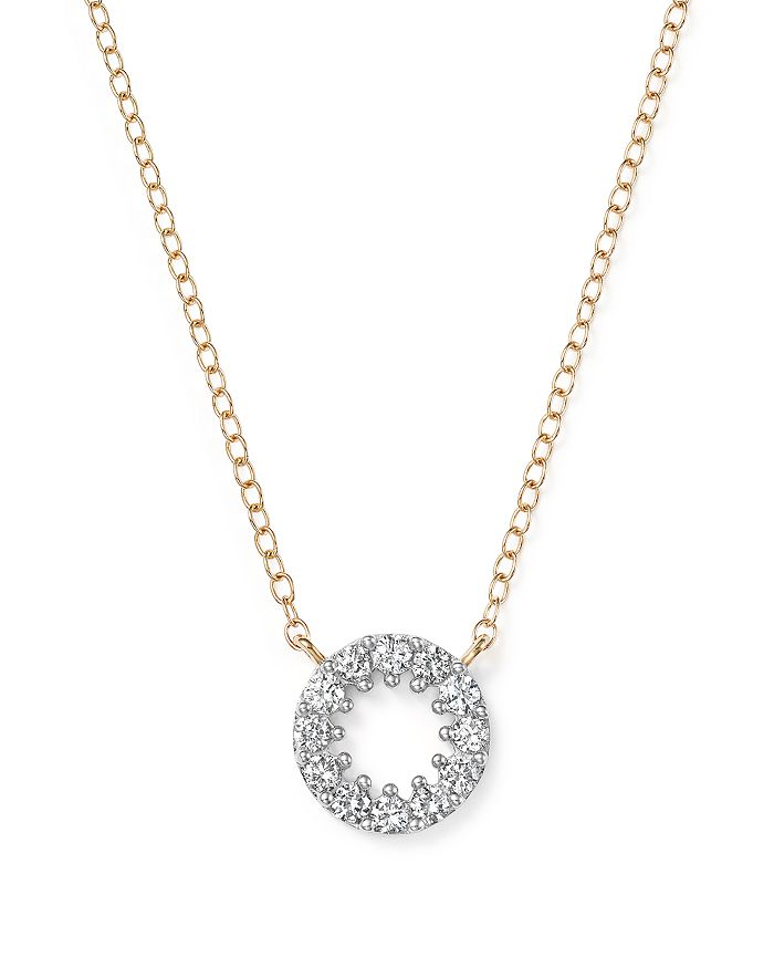 Bloomingdale's - Diamond Circle Pendant Necklace in 14K Yellow Gold, .35 ct. t.w. - 100% Exclusive