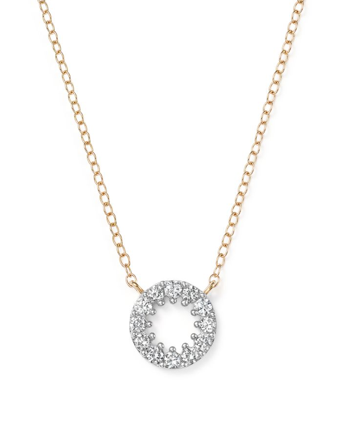 Bloomingdale's Diamond Circle Pendant Necklace in 14K Yellow Gold, .35 ct. t.w. - 100% Exclusive    Bloomingdale's