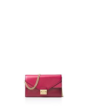 Michael Michael Kors Sloan Envelope Color Block Large Leather Chain Wallet