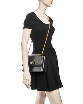 Salvatore Ferragamo - Medium Ginny Calfskin Shoulder Bag