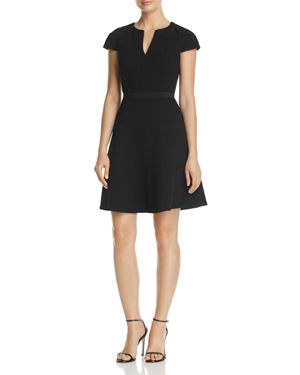 Rebecca Taylor Textured Fit-and-Flare Dress